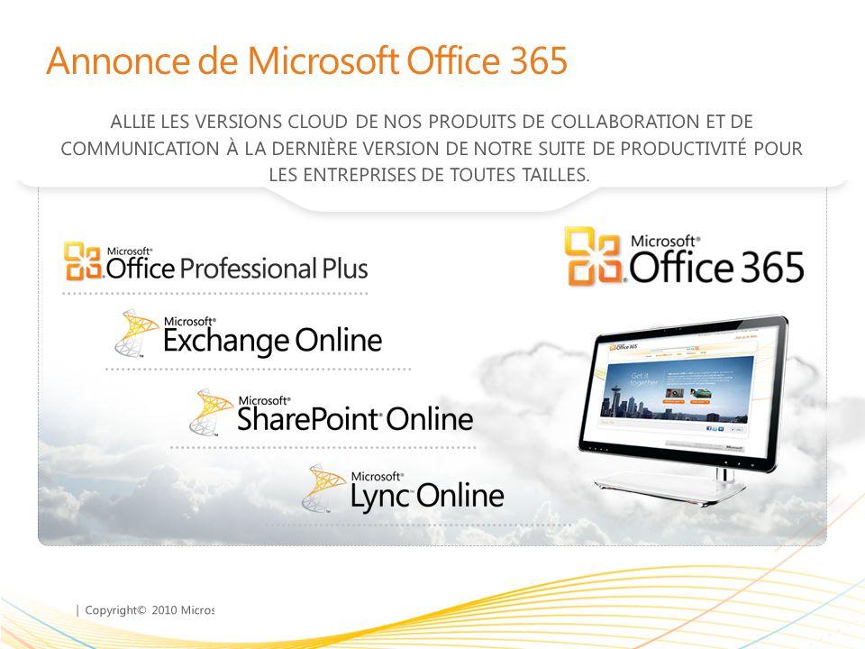 | Copyright© 2010 Microsoft Corporation Aujourdhui plus de 1200 clients ont choisi loffre Microsoft Online Services et lon compte désormais près de 200 000 utilisateurs en France Des clients exploitent la productivité du Cloud avec Microsoft en France 36