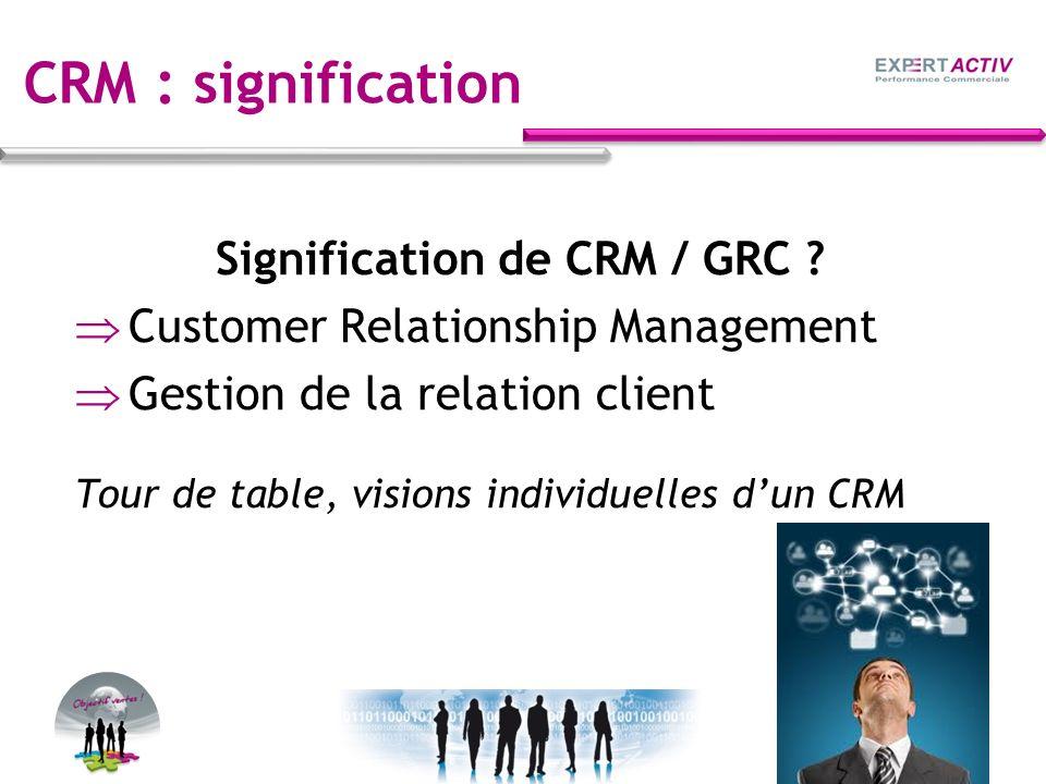 CRM : pour lancer des actions marketing ciblées Ex.