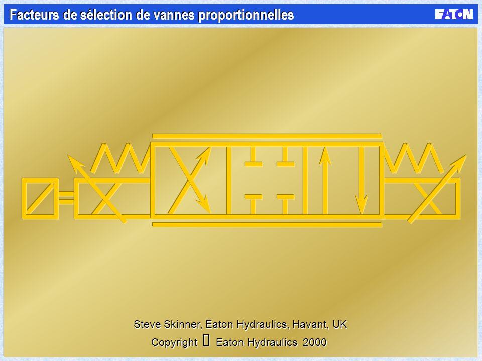 Facteurs de sélection de vannes proportionnelles Copyright Eaton Hydraulics 2000 Steve Skinner, Eaton Hydraulics, Havant, UK