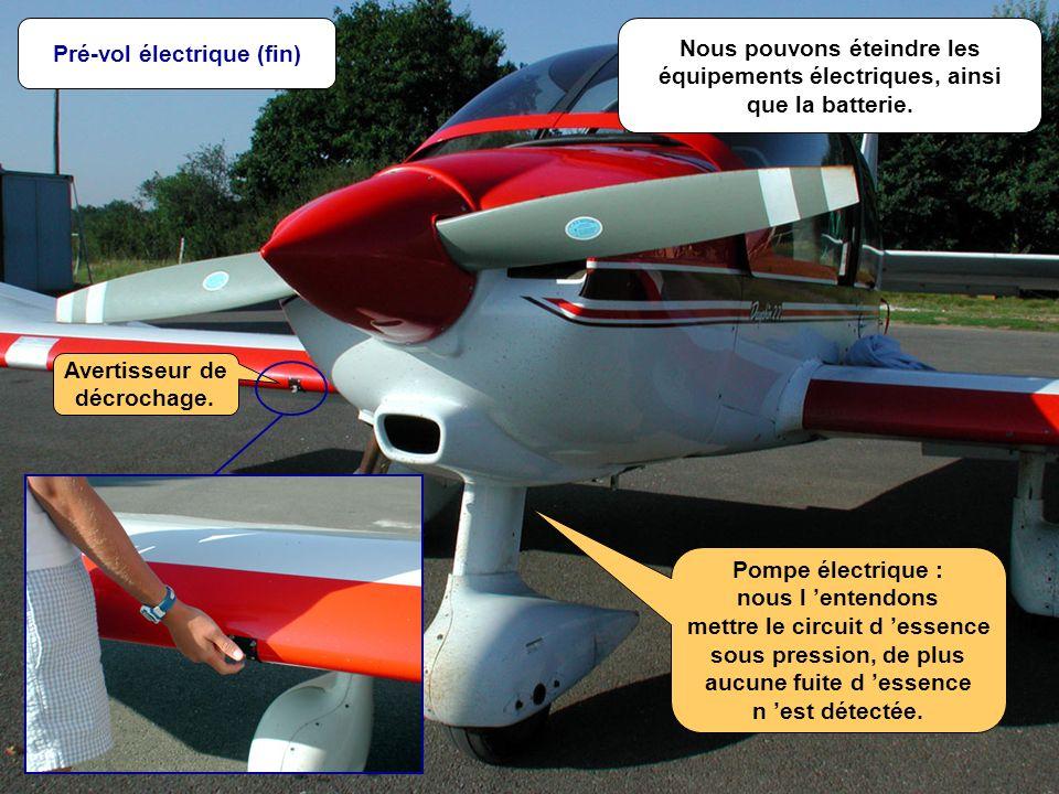E.S.- Août 2001 M - 20/n Nous pouvons éteindre les équipements électriques, ainsi que la batterie.