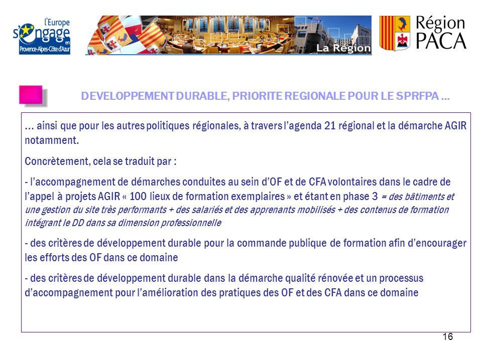 15 La rénovation du référentiel de la Démarche Qualité Région a été votée le 8 février 2010.