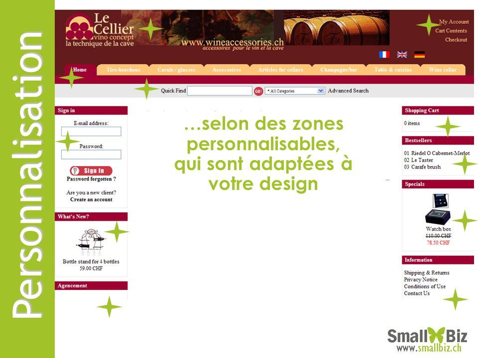 Marketing SmallBiz eShop comprend une panoplie de fonctionnalités pour inciter à lachat… Ici, vous présentez un produit que dautres personnes ont acheté en même temps que celui-ci