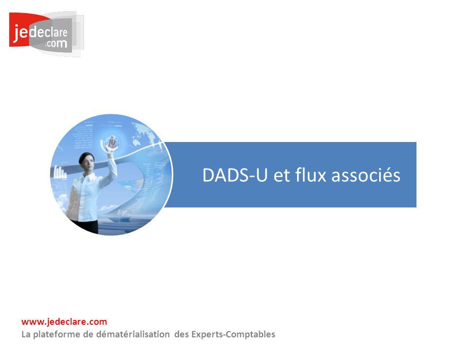 20 www.jedeclare.com La plateforme de dématérialisation des Experts-Comptables DADS-U et flux associés