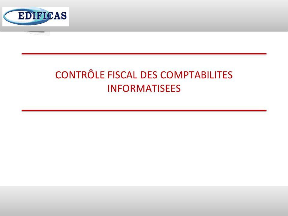 37 CONTRÔLE FISCAL DES COMPTABILITES INFORMATISEES