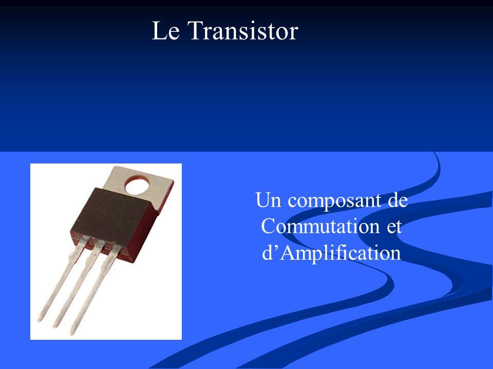 Le Transistor Un composant de Commutation et dAmplification