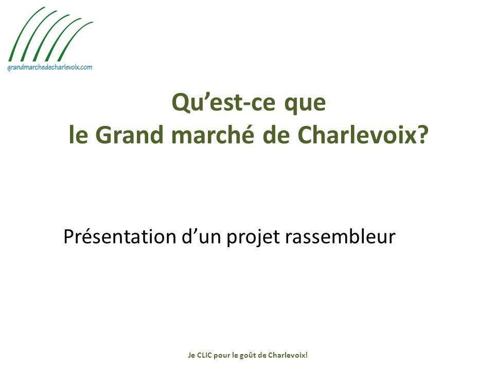 Quest-ce que le Grand marché de Charlevoix.