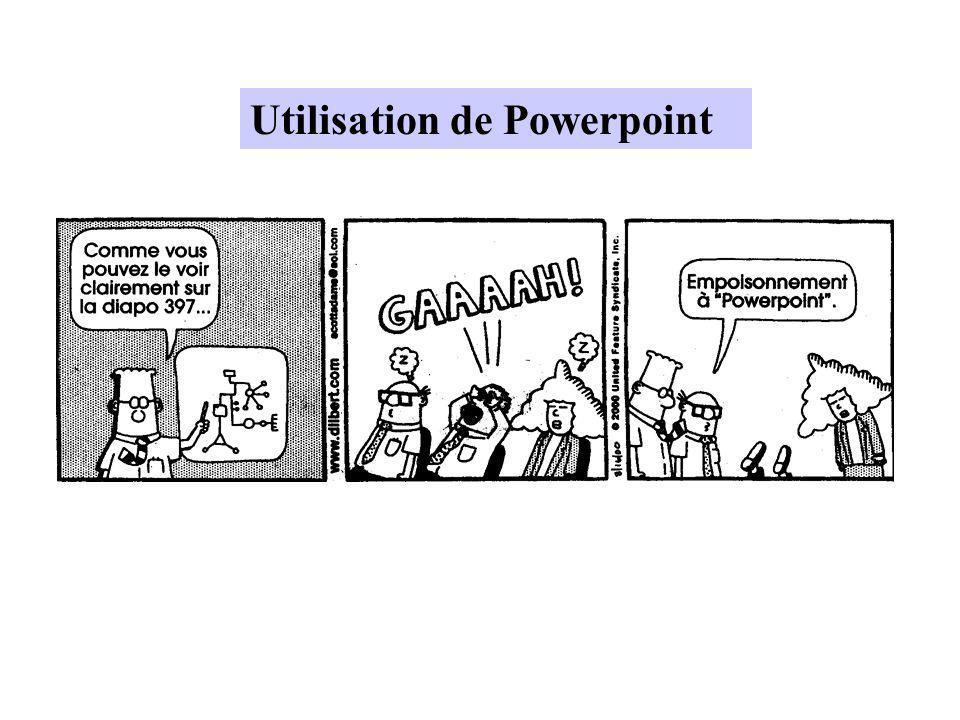 Utilisation de Powerpoint