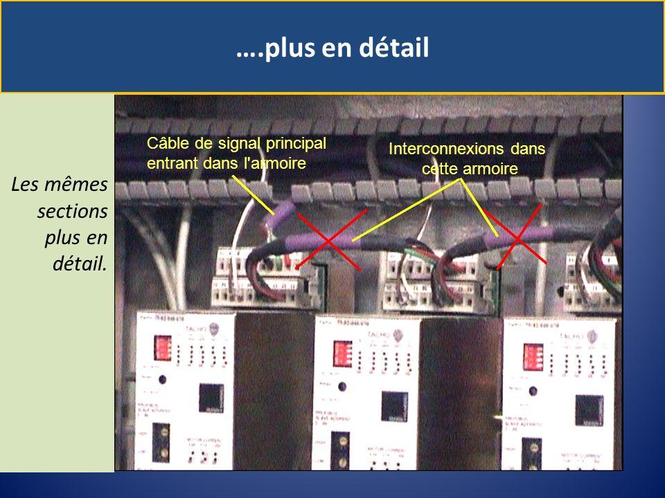 ….plus en détail Les mêmes sections plus en détail. Câble de signal principal entrant dans l'armoire Interconnexions dans cette armoire