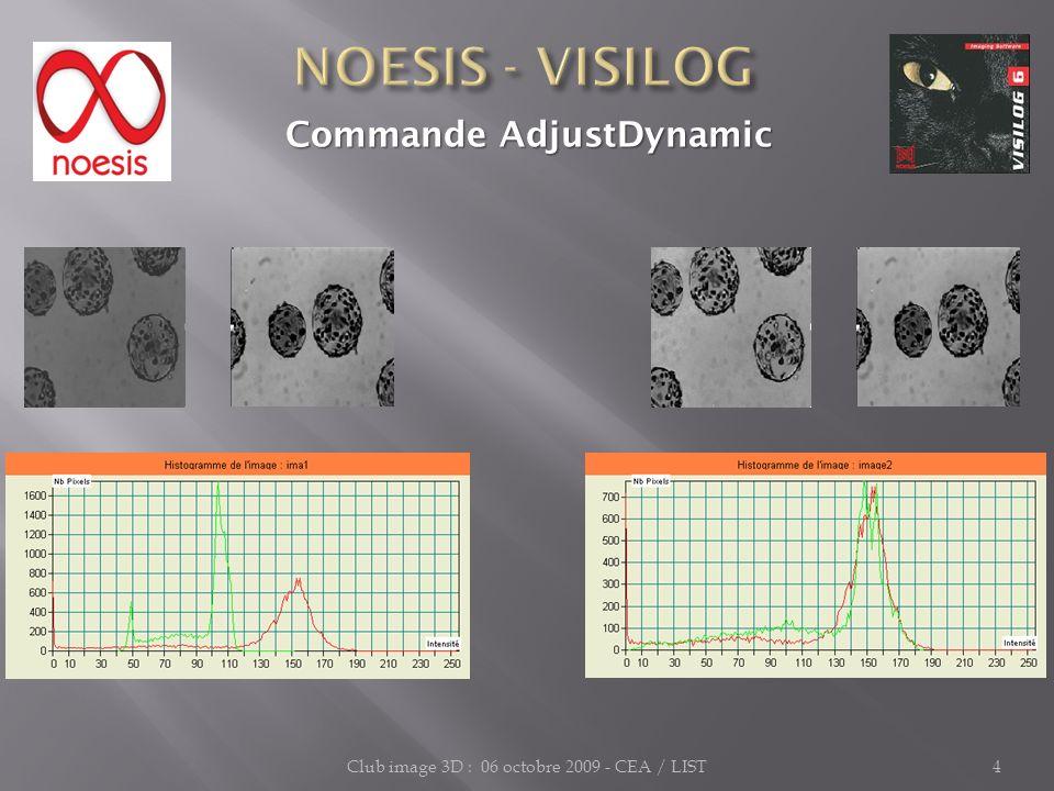 Club image 3D : 06 octobre 2009 - CEA / LIST5 Commande global_analysis Commande global_analysis