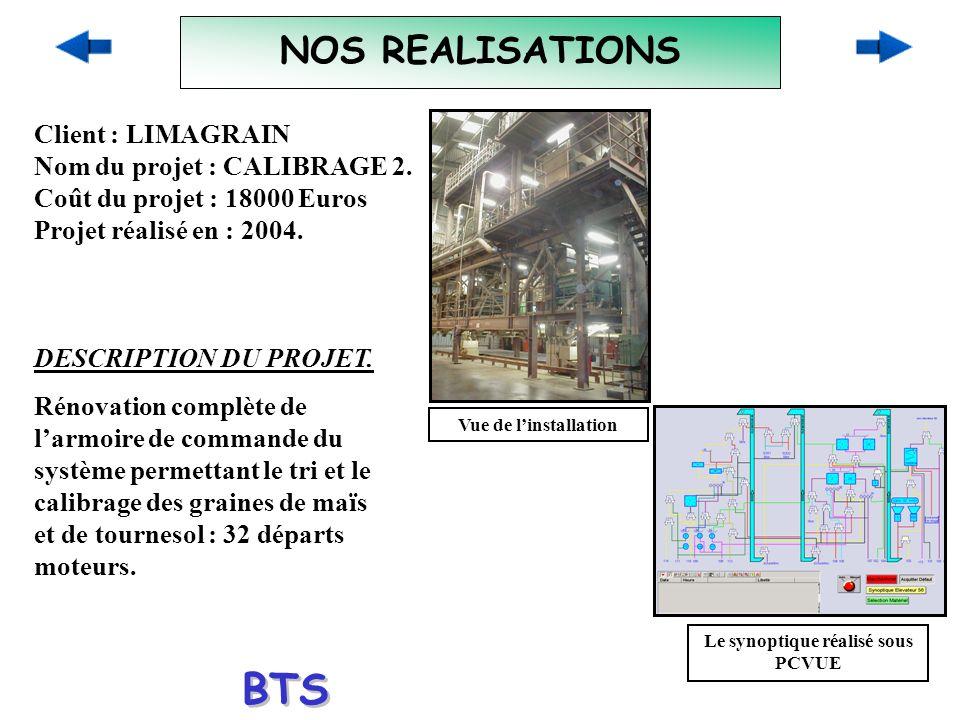 NOS REALISATIONS Client : LIMAGRAIN Nom du projet : CALIBRAGE 2. Coût du projet : 18000 Euros Projet réalisé en : 2004. DESCRIPTION DU PROJET. Rénovat