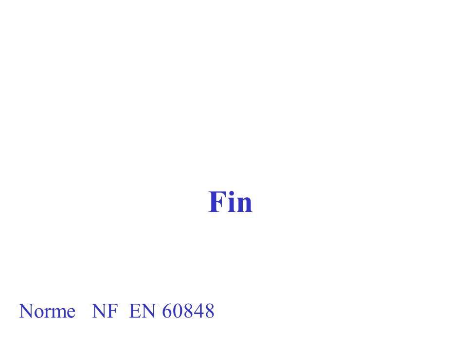 Fin Norme NF EN 60848
