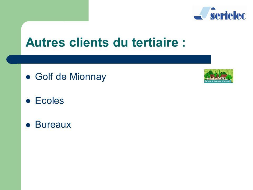 Golf de Mionnay Ecoles Bureaux Autres clients du tertiaire :