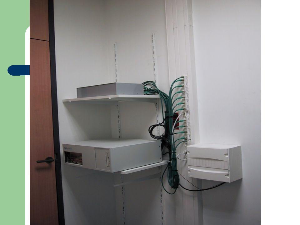 Mise en place de toute la partie RJ45 : - baie de brassage - switch - hub - …. Tertiaire Courant faible :