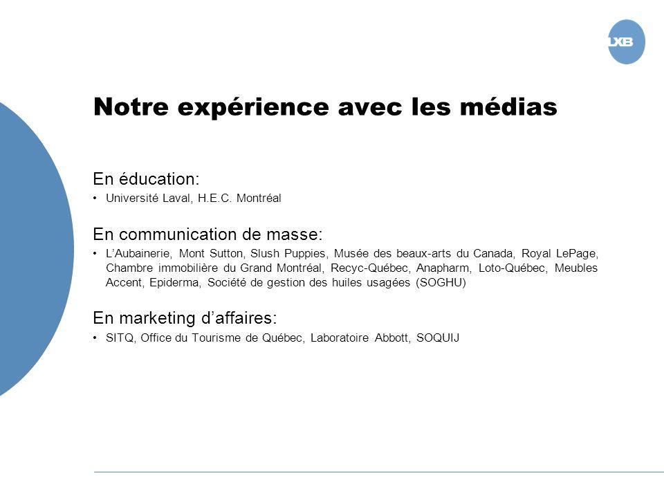 Notre expérience avec les médias En éducation: Université Laval, H.E.C.