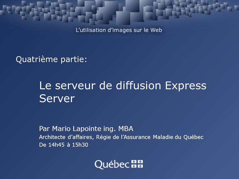 Quatrième partie: Le serveur de diffusion Express Server Par Mario Lapointe ing.