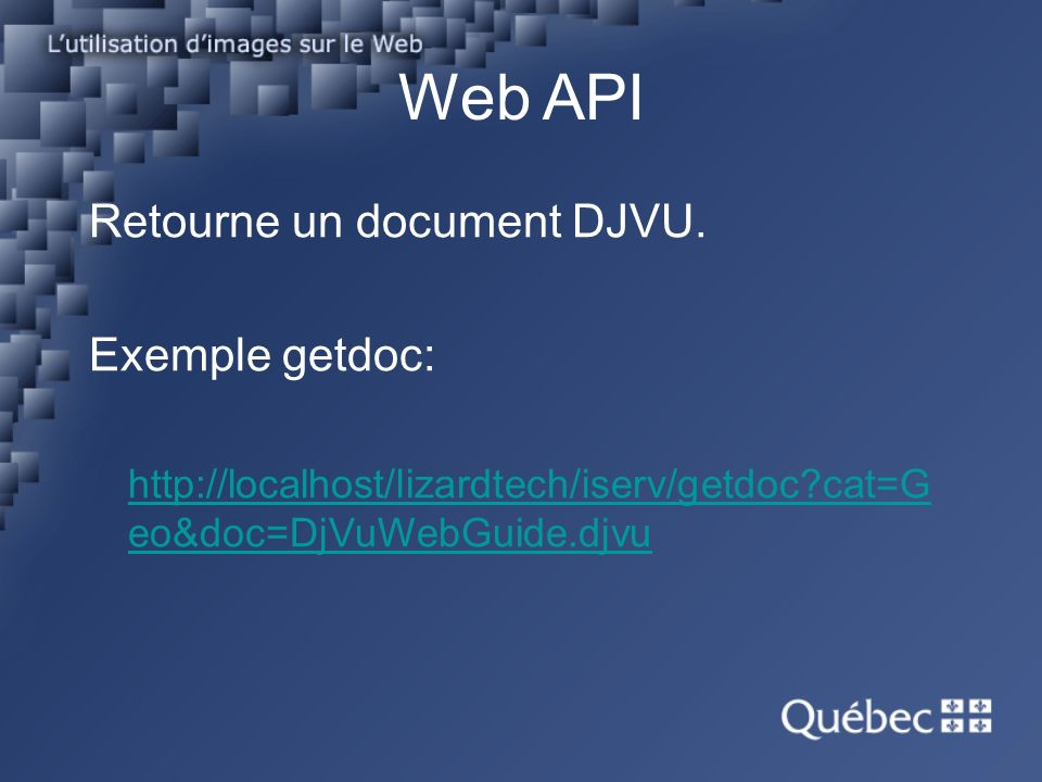 Web API Retourne un document DJVU.