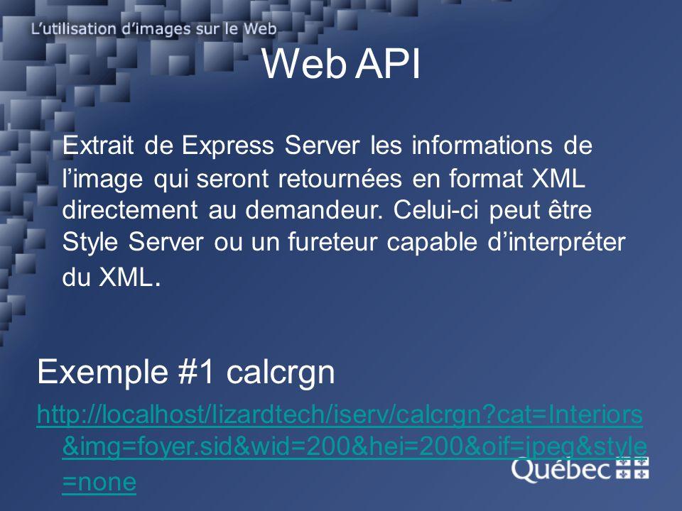 Web API Extrait de Express Server les informations de limage qui seront retournées en format XML directement au demandeur.