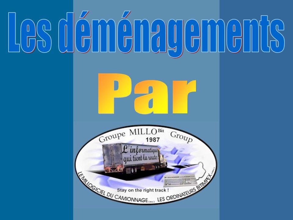 La page daccueil du module « Déménagement » affiche la liste des principaux programmes.