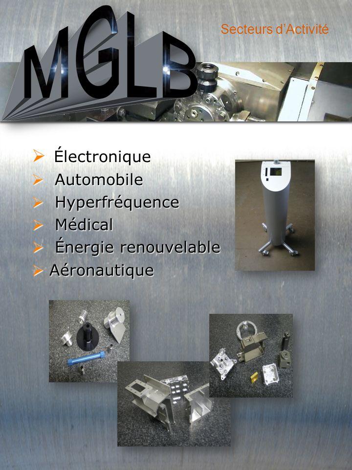 Électronique Automobile Automobile Hyperfréquence Hyperfréquence Médical Médical Énergie renouvelable Énergie renouvelable Aéronautique Aéronautique Secteurs dActivité