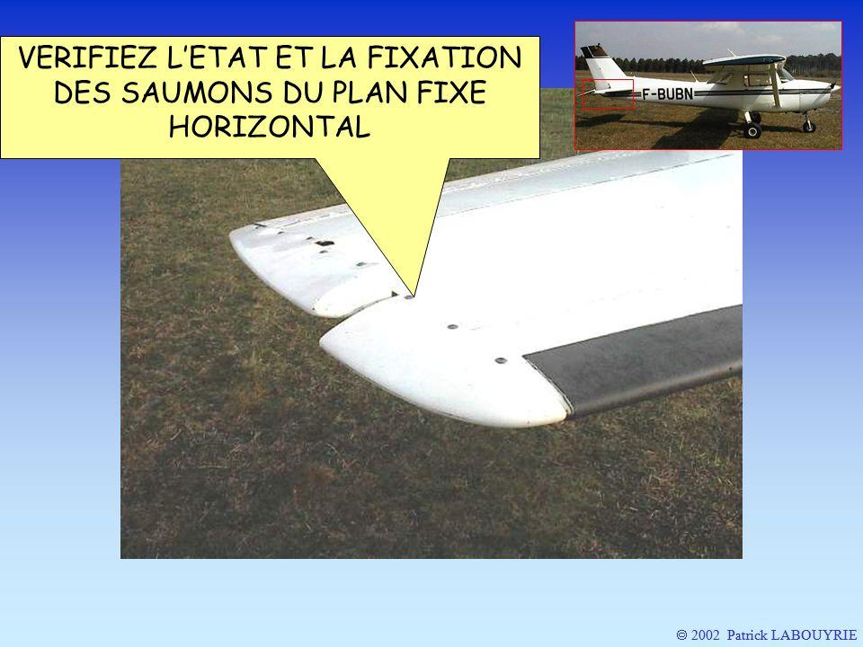 2002 Patrick LABOUYRIE VERIFIEZ LETAT ET LA FIXATION DES SAUMONS DU PLAN FIXE HORIZONTAL