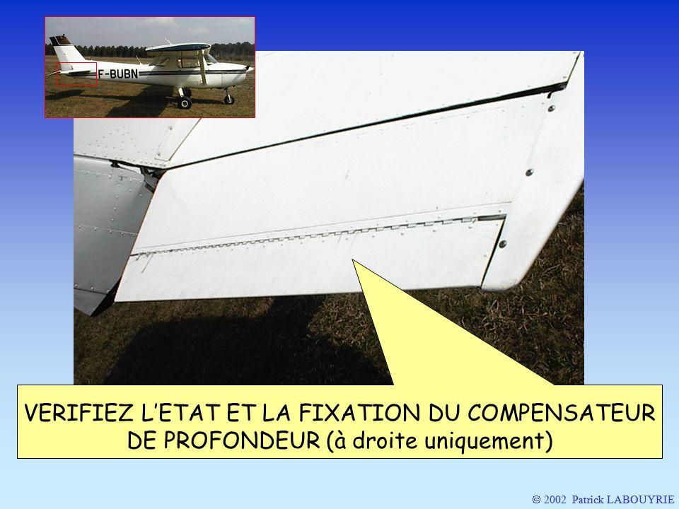 2002 Patrick LABOUYRIE VERIFIEZ LETAT ET LA FIXATION DU COMPENSATEUR DE PROFONDEUR (à droite uniquement)