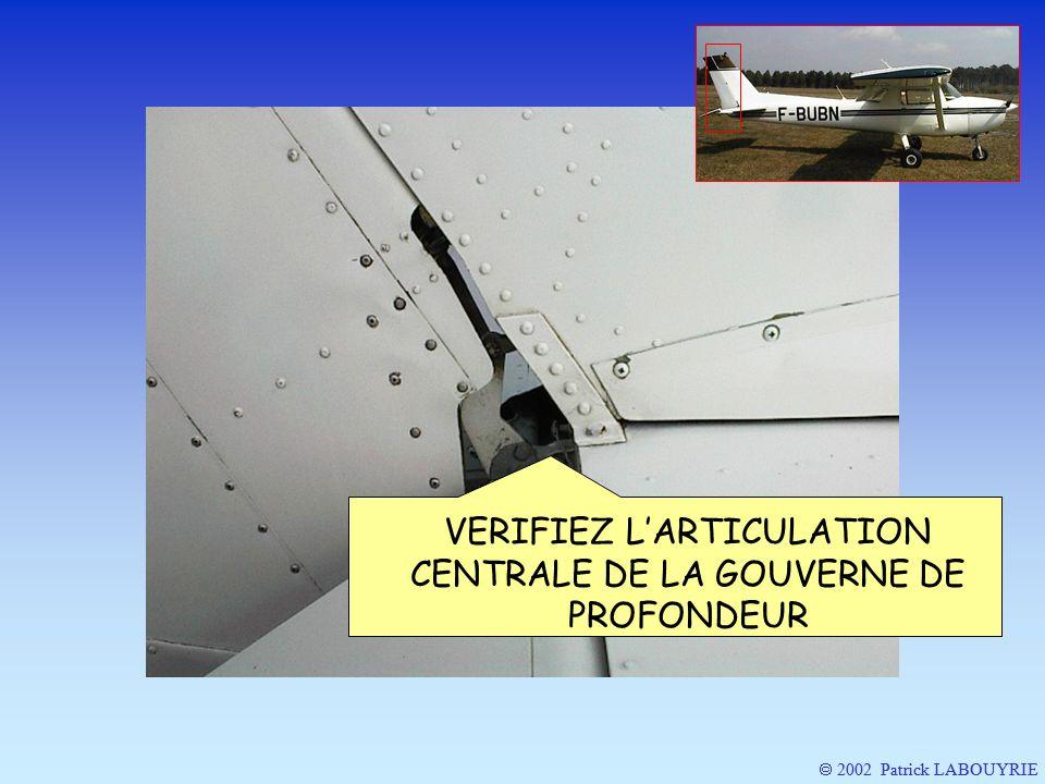 2002 Patrick LABOUYRIE VERIFIEZ LARTICULATION CENTRALE DE LA GOUVERNE DE PROFONDEUR