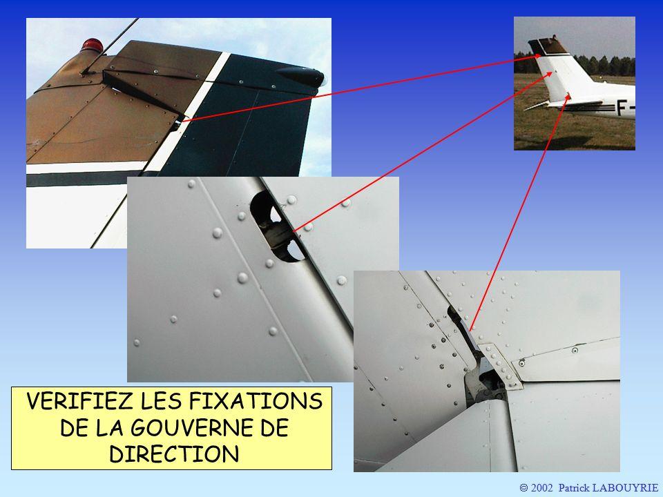2002 Patrick LABOUYRIE VERIFIEZ LES FIXATIONS DE LA GOUVERNE DE DIRECTION