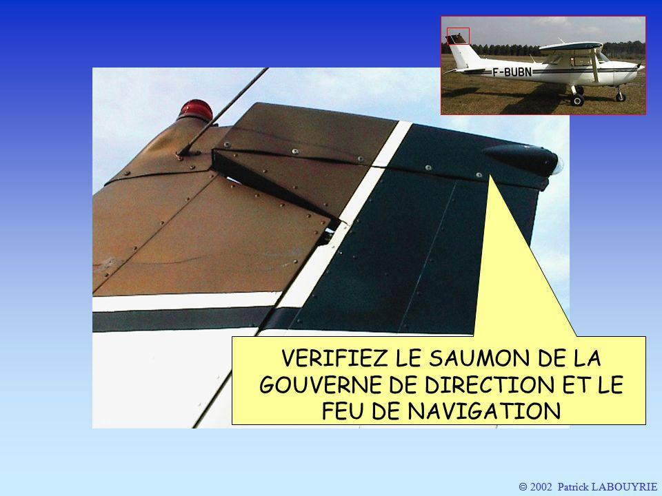2002 Patrick LABOUYRIE VERIFIEZ LE SAUMON DE LA GOUVERNE DE DIRECTION ET LE FEU DE NAVIGATION