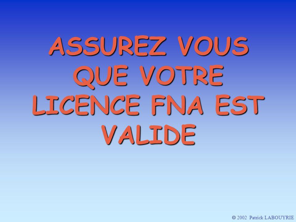 AVEC 3 POINTS SUPPLEMENTAIRES A VERIFIER 2002 Patrick LABOUYRIE