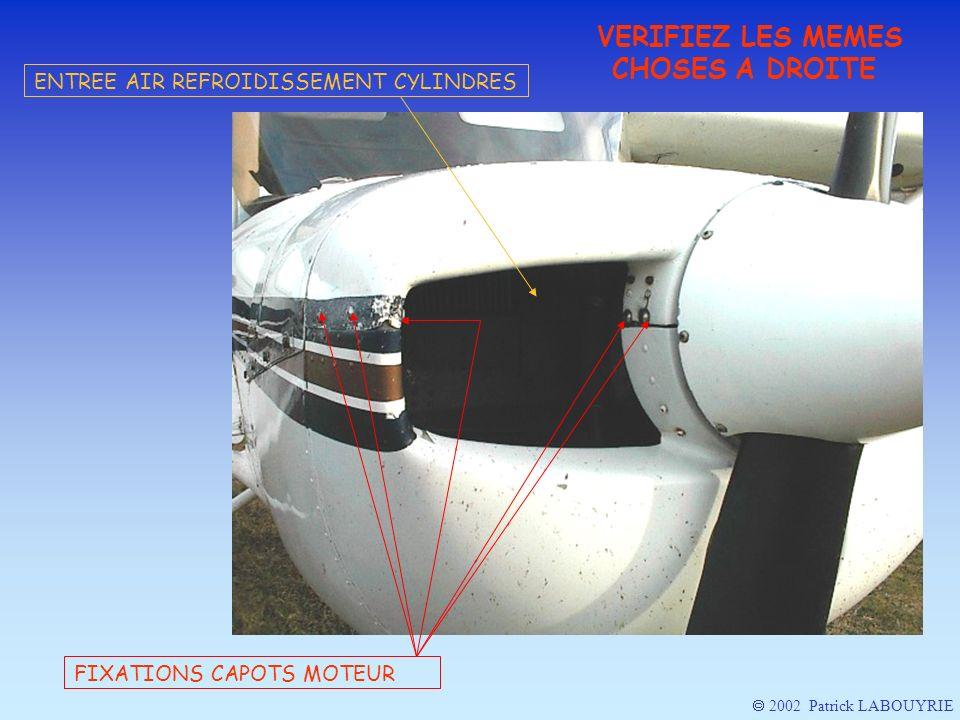 VERIFIEZ LES MEMES CHOSES A DROITE FIXATIONS CAPOTS MOTEUR ENTREE AIR REFROIDISSEMENT CYLINDRES 2002 Patrick LABOUYRIE