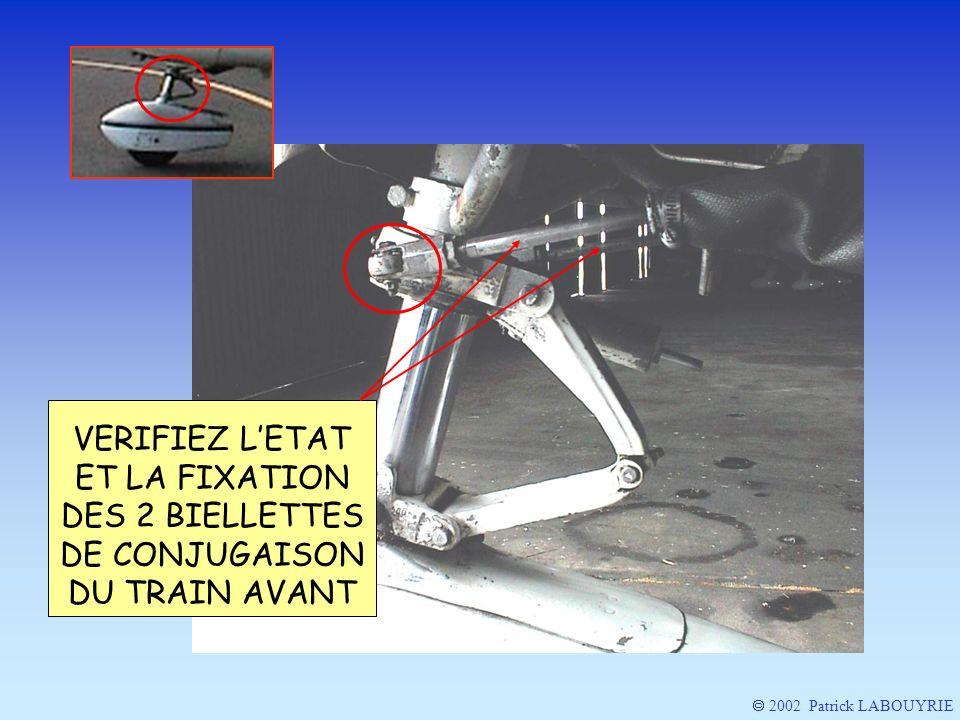 VERIFIEZ LETAT ET LA FIXATION DES 2 BIELLETTES DE CONJUGAISON DU TRAIN AVANT 2002 Patrick LABOUYRIE