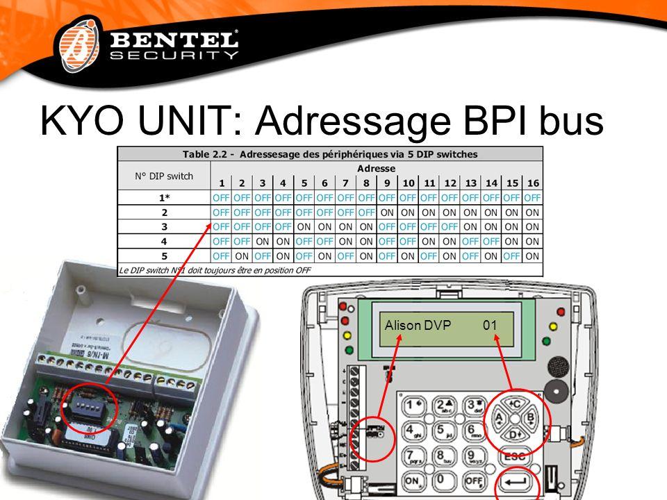 KYO UNIT:Programmation Les centrales KYO UNIT peuvent programmée au clavier LCD ou via PC à laide du software Bentel Security Suite (BSS).