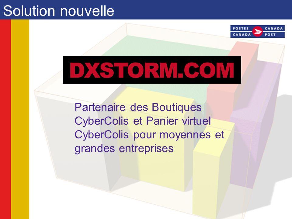 Solution nouvelle Partenaire des Boutiques CyberColis et Panier virtuel CyberColis pour moyennes et grandes entreprises