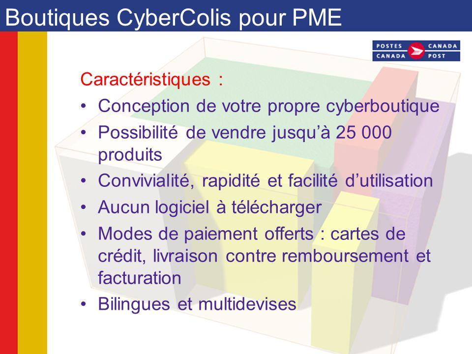 Caractéristiques : Conception de votre propre cyberboutique Possibilité de vendre jusquà 25 000 produits Convivialité, rapidité et facilité dutilisati