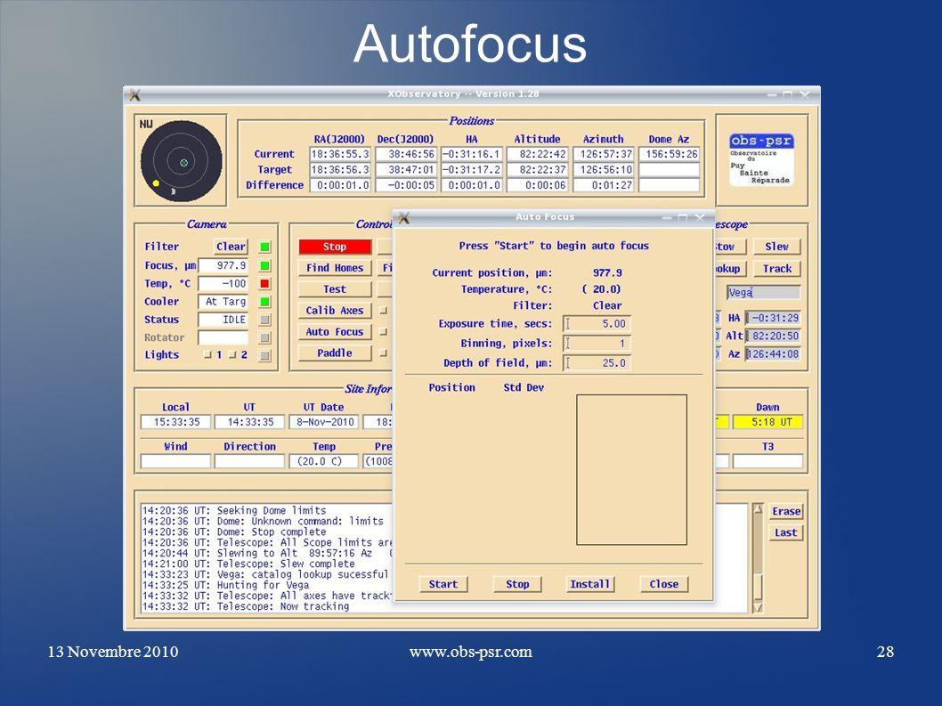 13 Novembre 2010www.obs-psr.com28 Autofocus