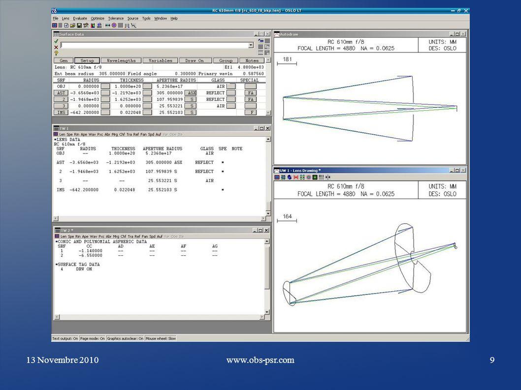 13 Novembre 2010www.obs-psr.com20 Stepper + H.D + galet Ampli carte d axes Encodeurs Noter les deux Slots ISA sur la Carte mère Advantec