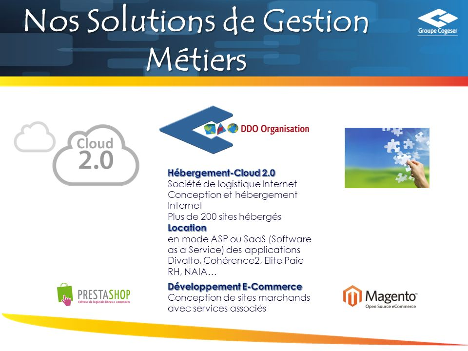 Nos Solutions de Gestion Métiers Cloud