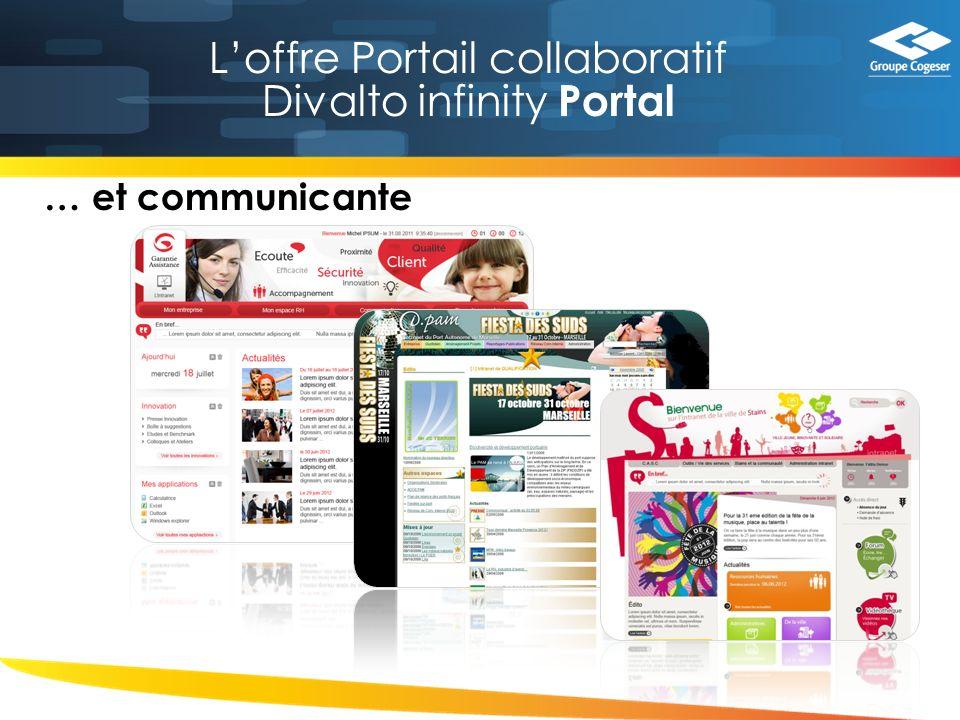 Loffre Portail collaboratif Divalto infinity Portal … et communicante