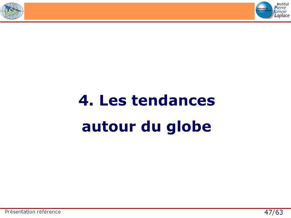 47/63 Présentation référence 4. Les tendances autour du globe