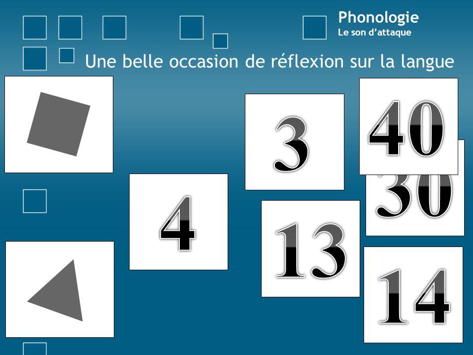 Une belle occasion de réflexion sur la langue Phonologie Le son dattaque