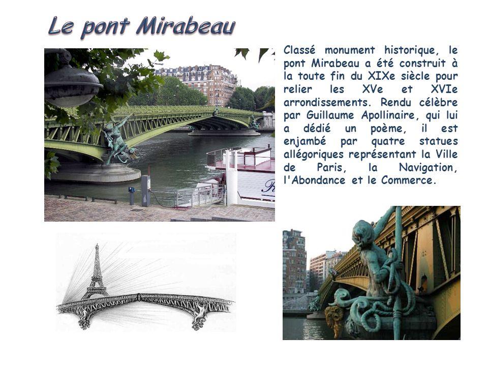 Anonyme dans un premier temps, ce pont suspendu reliant la rive droite à lîle Saint-Louis est baptisé pont de la Réforme (nom qu il portera 4 ans) après la révolution de 1848, au cours de laquelle il est incendié.