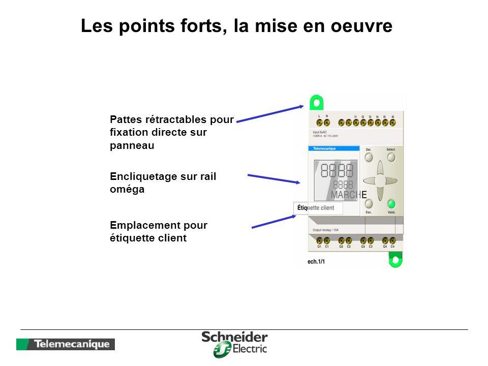 Les fonctions : Blocs de comparaison analogiques 8 blocs par application, utilisables avec les 2 entrées analogiques 0- 10V ( selon modèle ).