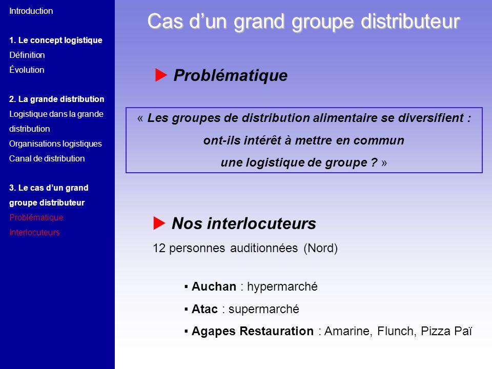 « Les groupes de distribution alimentaire se diversifient : ont-ils intérêt à mettre en commun une logistique de groupe ? » Auchan : hypermarché Atac