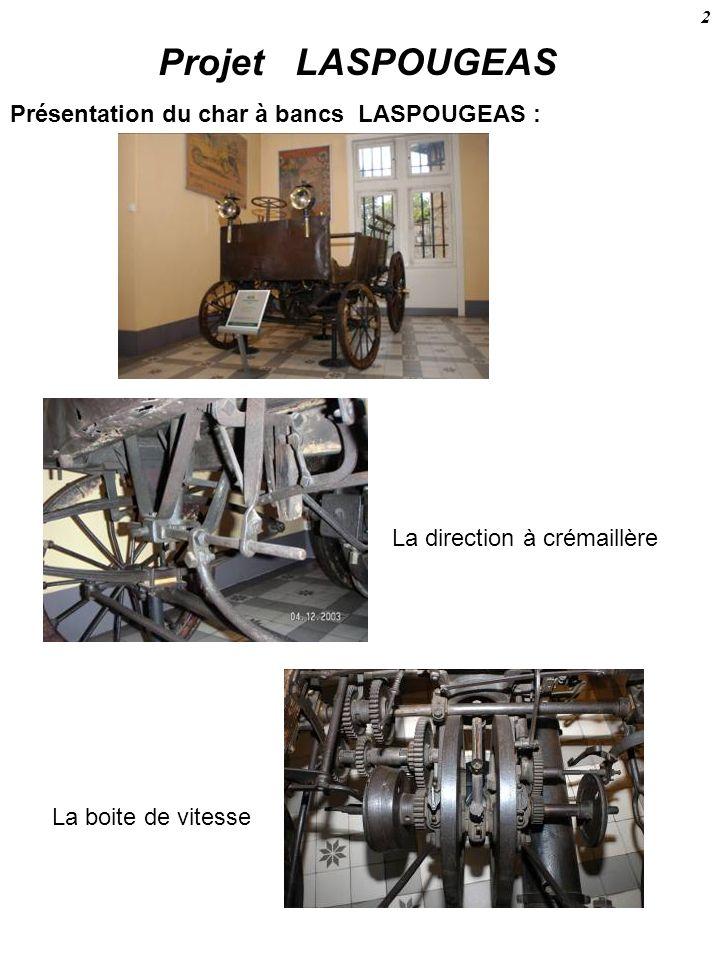 PROJET LASPOUGEAS Fonctionnement Le DIFFERENTIEL Une forte interrogation fût celle dun mécanisme étrange concernant le montage du pignon moteur de chaîne de transmission.
