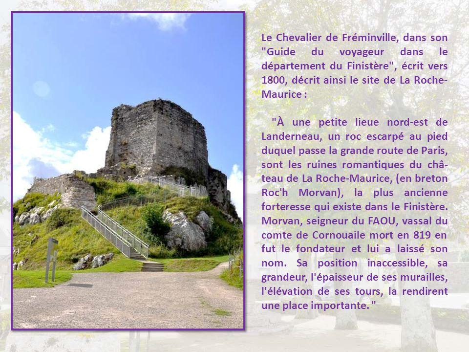 Il faut dire qu'il ne reste pas grand-chose de la Fière forteresse des Vicomtes du Léon :