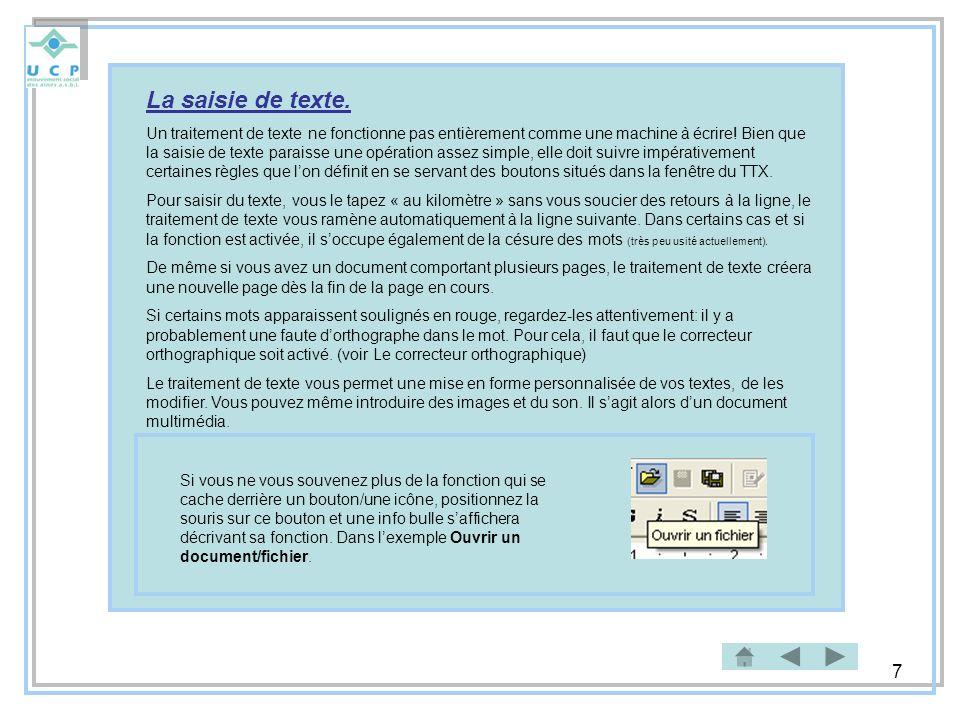 8 La fenêtre du TTX Barre de titres et des icônes Minimiser: La fenêtre de lapplication est fermée et apparaît dans la barre des tâches du bureau Windows.