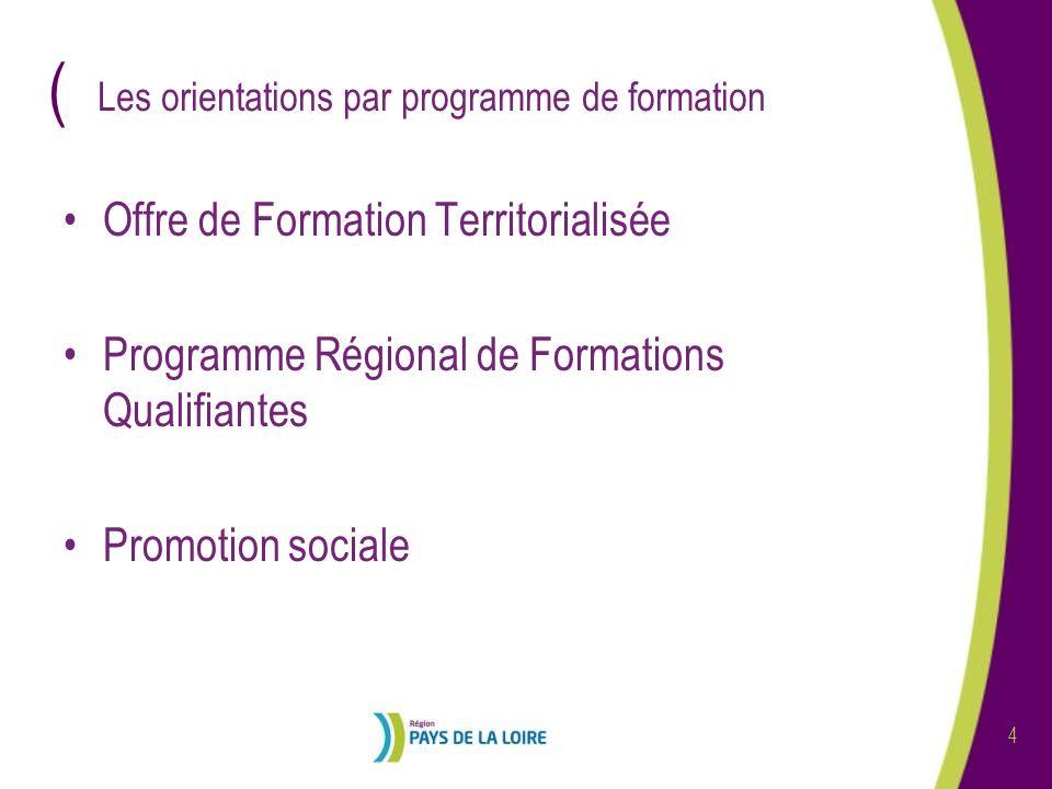 ( 5 Offre de Formation Territorialisée Qualifier et insérer, à léchelle dun territoire, des publics en difficulté grâce à des parcours individualisés daccès à la qualification.