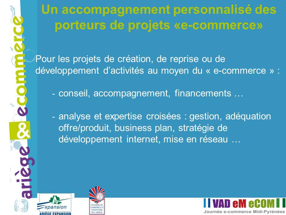 Pour les projets de création, de reprise ou de développement dactivités au moyen du « e-commerce » : - conseil, accompagnement, financements … - analy