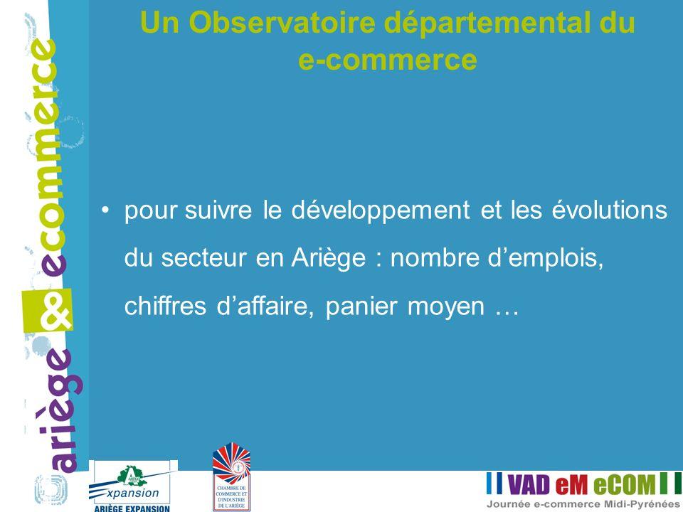 pour suivre le développement et les évolutions du secteur en Ariège : nombre demplois, chiffres daffaire, panier moyen … Un Observatoire départemental