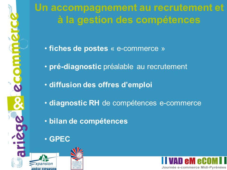 fiches de postes « e-commerce » pré-diagnostic préalable au recrutement diffusion des offres demploi diagnostic RH de compétences e-commerce bilan de